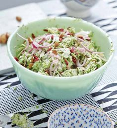 Broccoli Slaw with Ginger Poppyseed Mayonnaise Easy Egg Recipes, Dill Recipes, Paleo Recipes, Mexican Food Recipes, Soup Recipes, Ethnic Recipes, Healthy Foods To Eat, Healthy Eating, Healthy Lunches