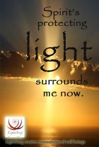 LightSong Affirmation Card App: Spirit's protecting light surrounds me now. Affirmation Cards, Shamanism, Deck Of Cards, Affirmations, Medicine, Spirit, This Or That Questions, Community, Messages