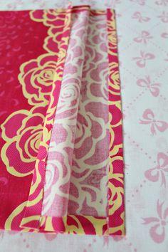 Fold fabric to finish seams 1