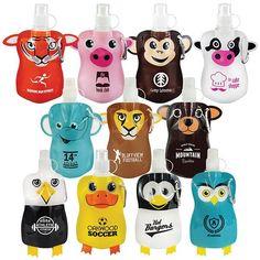 12oz. Paws N Claws Flat Bottle  (#PNCFLBTL) at cool-ideas-marketing.com
