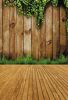 Fiona 5x7ft Summer Wooden Floor Photo Backgrounds Leaves Wall Photography Backdrops for Studios