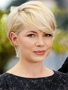 Michelle Williams - Long Modern Pixie ~~ Michelle looks great, but the question is, can I rock this (without looking like J. Bieber)??