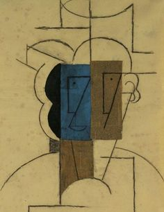Pablo Picasso. Head of a man with hat, 1912