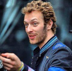 Curly and beard Chris Martin
