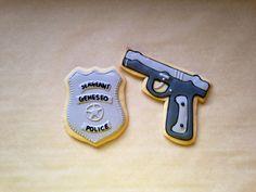 Police Badge and Pistol Cookies made by Sweet Byrdie Bites   https://m.facebook.com/SweetByrdieBites