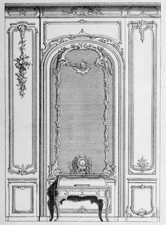 Design for the interior of a Cabinet de Travail, France