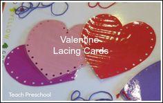 Valentine Lacing Cards by Teach Preschool
