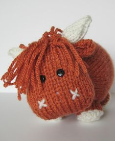 MAc the Highland Bull knitting pattern by Amanda Berry - available to download at LoveKnitting!