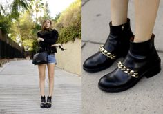 Givenchy Chain Boots by @Isabelle Choi Chiara Ferragni