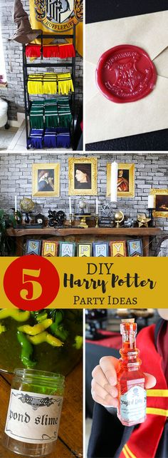 5 DIY Harry Potter Party Ideas - Party favors, decorations and more! Michelle's Party Plan-It