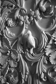Here is an image of the beautiful detail of awoodpecker in hand modelled stucco by Geoffrey Preston. Photographer credit Nick Carter. A wonderful artisan who we are excited to work with in Crafted. http://geoffreypreston.co.uk/