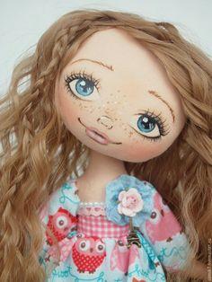 """Купить Малышка """"Василиса"""" - голубой, кукла, коллекционная кукла, кукла ручной работы, кукла интерьерная"""