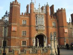 East Molesey ~ England ~ Hampton Court  ~  Constructed on a picturesque tree-bordered bend in the Thames and set in 60 acres of rambling gardens, is magnificent Hampton Court Palace. It was the home of Henry VIII and his first wife Catherine of Aragon, before she was ousted after failing to give him a son. Today, the palace is open to the public and is a major tourist attraction.