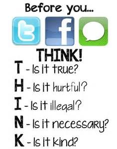 Awesome Digital Citizenship Poster to Use in Your Class, EDUCATİON, Educational Technology and Mobile Learning: Awesome Digital Citizenship Poster to Use in Your Class. Technology Posters, Educational Technology, Teaching Technology, Mobile Technology, Digital Technology, Digital Citizenship Posters, Think Poster, Social Media Etiquette, Digital Footprint
