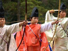 Female archer gear at the Momote Shiki Ceremony. Miiiiiight be period.