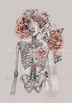 Literal beauty by saro-sah on DeviantArt – Beileidssprüche – emedical Skull Tattoos, Body Art Tattoos, Arte Com Grey's Anatomy, Human Anatomy Art, Skeleton Art, Medical Art, Art Drawings Sketches, Skull Art, Tatoo