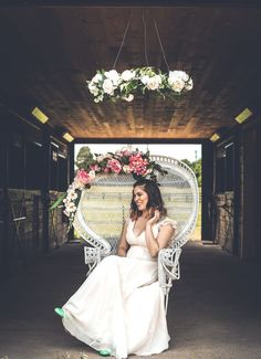 Feel like an absolute rockstar on your special day. Estelle, our white rattan peacock chair, and her pink floral crown will have you feeling like a queen!