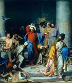 The Money Changers, by Carl Bloch