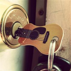 An Acoustic Guitar key looks quite similar to a real guitar and it's not gonna be a keychain only but a working key to open your doors to a rocking world. For music lovers, this could be an interesting gift idea. Match your key type first.