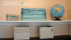 Lewisville Love: Making my own Laundry Sign