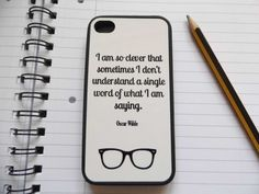 Oscar Wilde Quote iPhone Case van LiteraryEmporium op Etsy