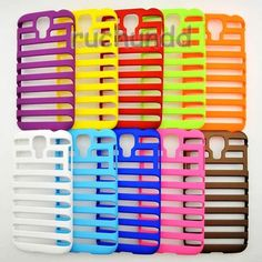 10pcs Ladder shape Stripe Hollow Frame Case Cover For Samsung Galaxy S4 I9500 $18.99