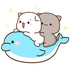 Cute Love Pictures, Cute Love Gif, Cute Images, Chibi Cat, Cute Chibi, Cute Disney Wallpaper, Cute Cartoon Wallpapers, Cute Anime Cat, Kitty Drawing