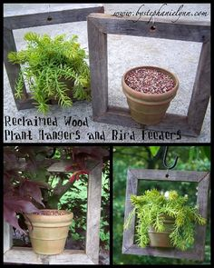 DIY PLANTERS :: DIY Plant Hanger from reclaimed wood (tutorial)