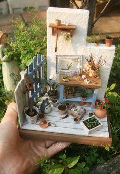 Is Hydroponic Gardening Organic Refferal: 9870648270 Vitrine Miniature, Miniature Rooms, Miniature Plants, Miniature Fairy Gardens, Miniature Houses, Miniature Furniture, Doll Furniture, Mini Fairy Garden, Fairy Garden Houses