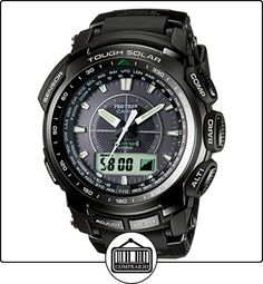 CASIO Pro Trek PRW-5100-1ER - Reloj de cuarzo con correa de resina para hombre, color negro de  ✿ Relojes para hombre - (Gama media/alta) ✿
