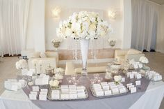 All-white-ivory-wedding-reception-welcome-table-escort-cards.original
