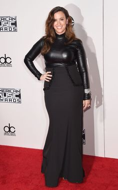 Alanis Morissette from 2015 American Music Awards: Red Carpet Arrivals  The singer hits the AMAs in a figure-hugging, luxe ensemble.