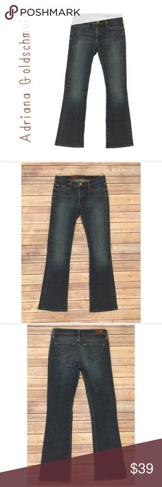 AG Adriano Goldschmied The Angel Boot Cut Jeans 27 AG Adriano Goldschmied The Angel Boot Cut Denim Blue Jeans 27  No stains  Wear on back bottom hem -shown in photos  Measurements in photos Ag Adriano Goldschmied Jeans Boot Cut
