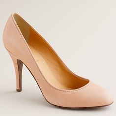 Mona imported italian leather pumps in dusty clay #Jcrew, if only I could afford them! $198.00