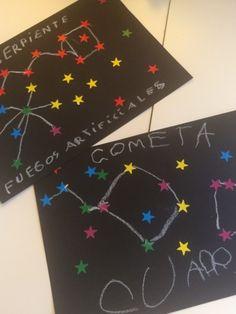 Día 17: Constelaciones. - Educadiver Space Preschool, Preschool Crafts, Space Projects, Science Projects, Outer Space Crafts, Planet Project, Space Solar System, Kindergarten Themes, Abc Activities