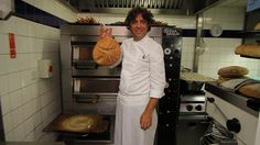 Video of Giorgio Locatelli recreating a 2,000 year old recipe for bread from Pompeii.
