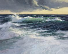 Winter Seas by Donald Demers (oil)  ---*--- Love the transparent waves