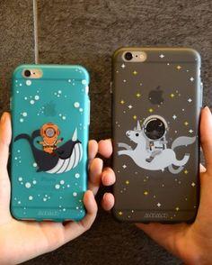 Phone case Astronaut ocean sky night ides couples cool iphone6/6s/6plus/6splus cases