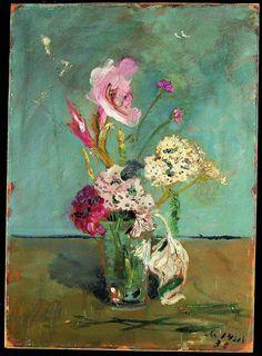 Filippo de Pisis. Il gladiolo fulminato, 1930, olio su cartone incollato su compensato, cm. 71,5 x 51. Donazione Franca Fenga Malabotta