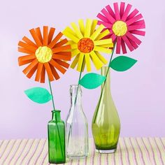 Paper Roll Flowers | Community Post: 22 Cool Kids Crafts You Can Make From Toilet Paper Tubes