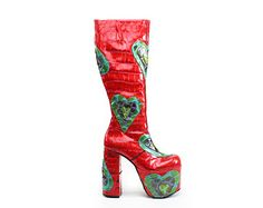 1535ff3aa5 RESERVED    90 s Japanese Cat Cut Out Mega Platform Wedge Avant Garde  Fabric Knee Boots    6