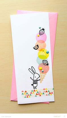 Ice Cream Bunny by Lisa Spangler for Studio Calico