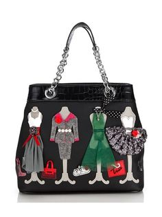 2c39154568cd Tua by Braccialini Borsa Manhattan nero Crafts To Sell, Cute Bags, Handmade  Bags,