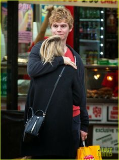 Emma Roberts and fiance Evan Peters going shopping together in New York