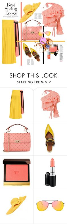 """COLORFULL SET"" by konstantinabday26oct72 ❤ liked on Polyvore featuring H&M, Marni, Rosie Assoulin, Valentino, Malone Souliers, Tom Ford, MAC Cosmetics, Helene Berman and Topshop"