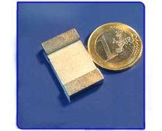 Imán de neodimio Ref. V03 Placa 25x15x5 mm Money Clip, Licence Plates, Magnets