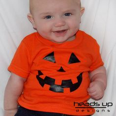This adorable pumpkin shirt is perfect for your little one. Use it as a simple costume or a way to to wear on any day! It also makes a great gift!