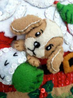 Secretos de Santa completó calcetín de por GrandmasStitchings