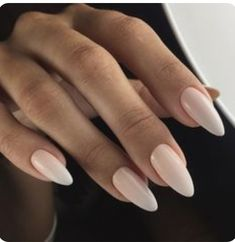 Almond-shaped nails Classic nails ideas Delicate wedding nails Gentle gradient nails Long nails Nails for wedding dress Plain white nails Wedding nails ideas Blush Nails, Nude Nails, White Nails, My Nails, Glitter Nails, Neutral Gel Nails, Neutral Wedding Nails, White Almond Nails, Long Almond Nails
