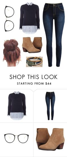 """Off to school"" by voliegrl ❤ liked on Polyvore featuring Dorothy Perkins, Linda Farrow and Nine West"